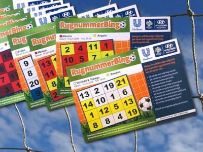 Unilever Rugnummerbingo kaarten