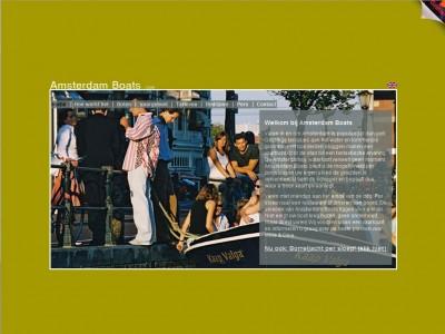 Website Amsterdam Boats door: Indysign Communicatie Amsterdam :: website, huisstijl, logo, briefpapier, presentatie