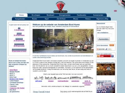 AmsterdamBootHuren.nl door: Indysign Communicatie Amsterdam :: businessplan, website, huisstijl, logo, briefpapier, presentatie