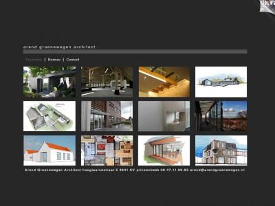 Website Arend Groenewegen Architect door: Indysign Communicatie Amsterdam :: website