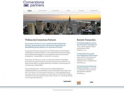 Website Cornerstone Partners door: Indysign Communicatie Amsterdam :: website, huisstijl, logo, briefpapier, presentatie