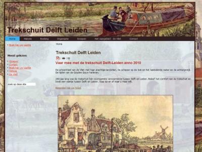 Website Trekschuit Delft Leiden door: Indysign Communicatie Amsterdam :: website, huisstijl, logo, briefpapier, presentatie