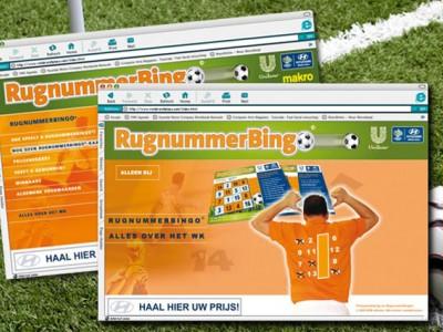Unilever Rugnummerbingo®website door: Indysign Communicatie Amsterdam :: website