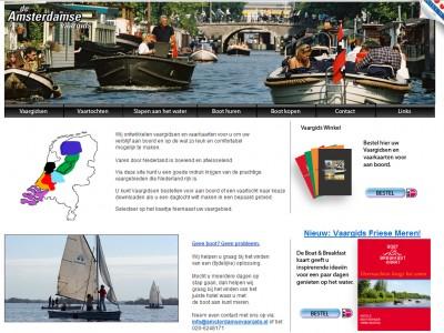 Website Vaargidsen door: Indysign Communicatie Amsterdam :: website, huisstijl, logo, briefpapier, presentatie