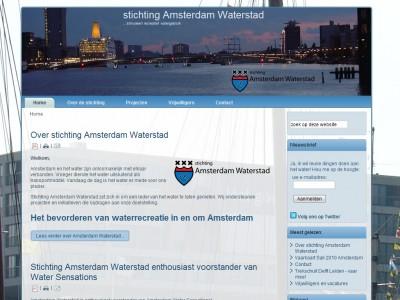 Website stichting Amsterdam Waterstad door: Indysign Communicatie Amsterdam :: website, huisstijl, logo, briefpapier, presentatie, businessplan